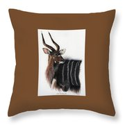 Nyala Bull Throw Pillow