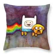 Nyan Time Throw Pillow by Olga Shvartsur