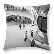 Nyc Airport, 1965 Throw Pillow