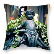 Nyc Angel Throw Pillow