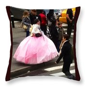Nyc Ball Gown Walk Throw Pillow