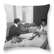 Nyc Board Of Health, 1909 Throw Pillow
