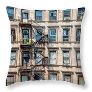 Nyc Building  Throw Pillow