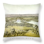 Nyc Central Park, C1859 Throw Pillow