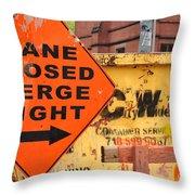 Nyc Construction Graffiti  Throw Pillow