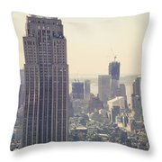 Nyc - Empire State Building Throw Pillow