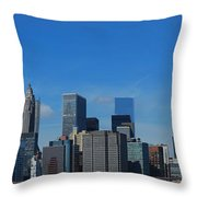 Nyc Financial District Throw Pillow
