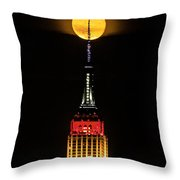 Nyc Moonstruck For World Cup Throw Pillow