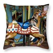 Nyc - Old Glory Pony Throw Pillow