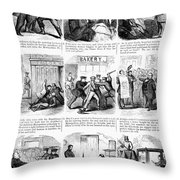 Nyc Police, 1859 Throw Pillow