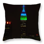 Nyc Salutes Seattle Seahawks Throw Pillow