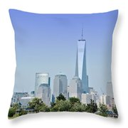 Nyc Skyline From The Park - Image 1666-01 Throw Pillow