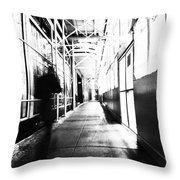 Nyc Street High Key Throw Pillow