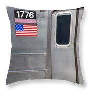 Nyc Subway Car 1776 Throw Pillow by Jannis Werner