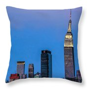 Nyc Under The Supermoon Throw Pillow