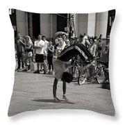 Nycity Street Performer Throw Pillow