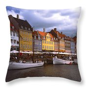 Nyhavn Copenhagen Throw Pillow