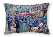 Nypd Highway Patrol Throw Pillow