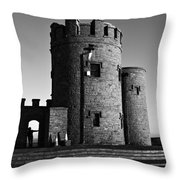 Briens Tower At The Cliffs Of Moher Throw Pillow