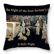 O Holy Night... It Is The Night Of The Dear Saviour's Birth  Throw Pillow