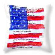 O Say Can You See Throw Pillow