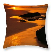 Oahu North Shore Throw Pillow