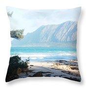 Oahu Sight Throw Pillow