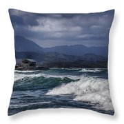 Oahu Surf Throw Pillow