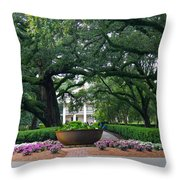 Oak Alley Courtyard Throw Pillow