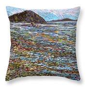 Oak Bay - Low Tide Throw Pillow