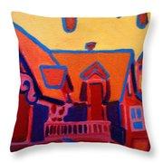 Oak Bluffs In Red Throw Pillow