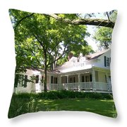 Oak Cottage At Greene Valley Farm Throw Pillow