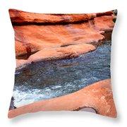 Oak Creek At Slide Rock Throw Pillow