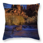 Oak Creek Crossing Sedona Arizona Throw Pillow