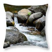 Oak Creek Water And Rocks Throw Pillow