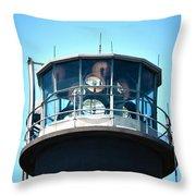 Oak Island Lighthouse Beacon Lights Throw Pillow