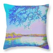 Oak On The Sacramento River - Pastel Throw Pillow