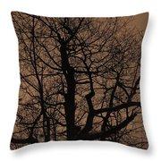 Oak Silhouette  Throw Pillow