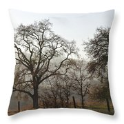 Oak Sillouette Throw Pillow
