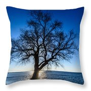 Oak Sunrise Throw Pillow