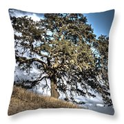 Oak Tree And Moon Throw Pillow