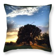 Oak Tree At The Magic Hour Throw Pillow