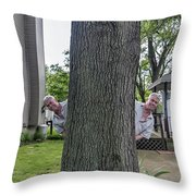 Oak Twins Throw Pillow