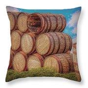 Oak Wine Barrels Throw Pillow