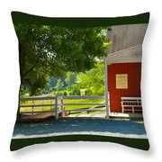 Oakencroft Winery Throw Pillow
