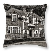 Oakdale Workmens Institute Mono Throw Pillow