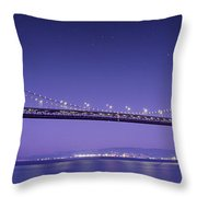 Oakland Bay Bridge Throw Pillow