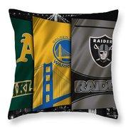 Oakland Sports Teams Throw Pillow
