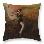 Oasis Impressionism Throw Pillow