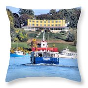 Oasis On The Ocean Throw Pillow